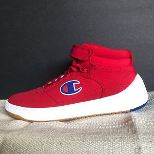 Champion Super C Court red sneakers 11